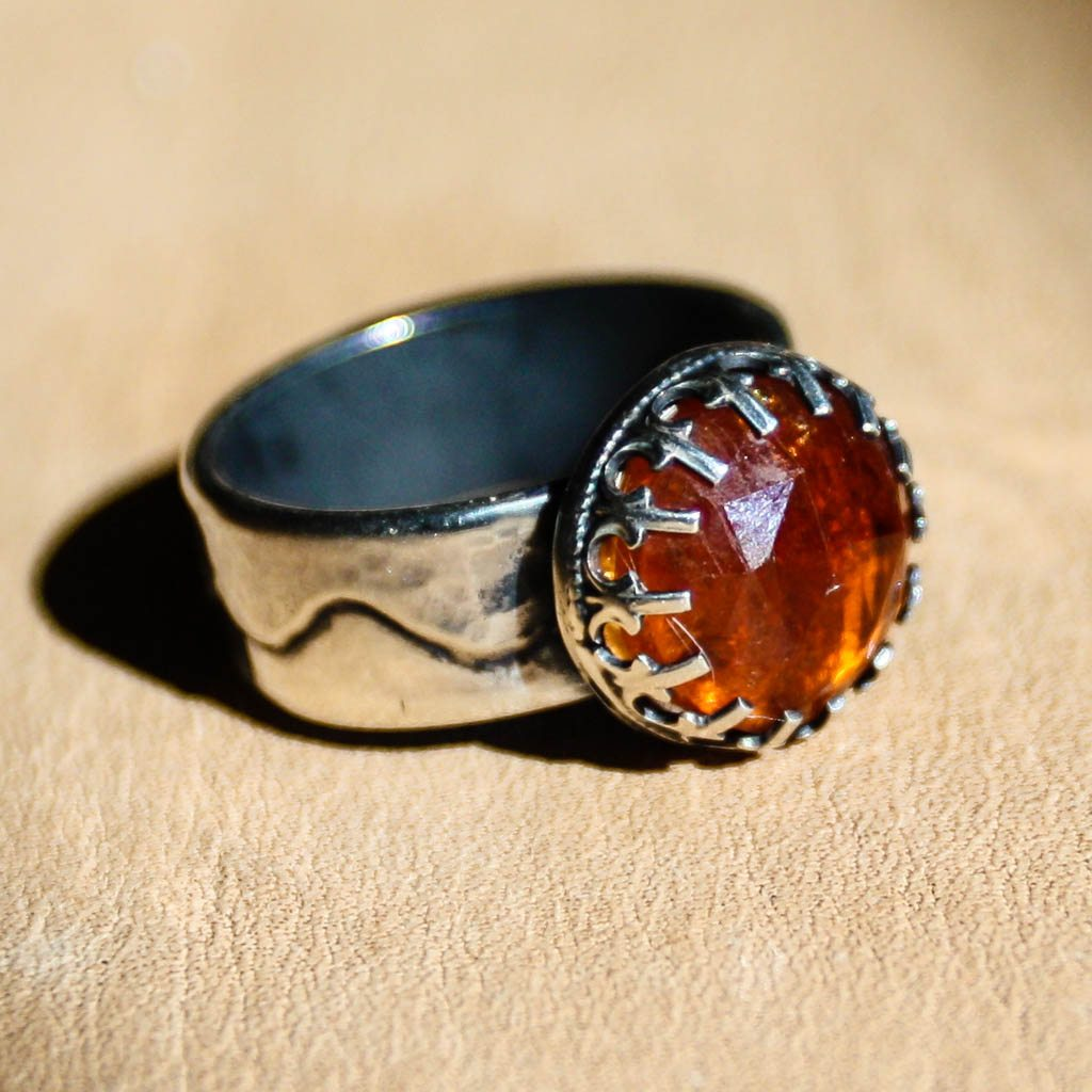 Orange Garnet Ring ~ Follow the Sun